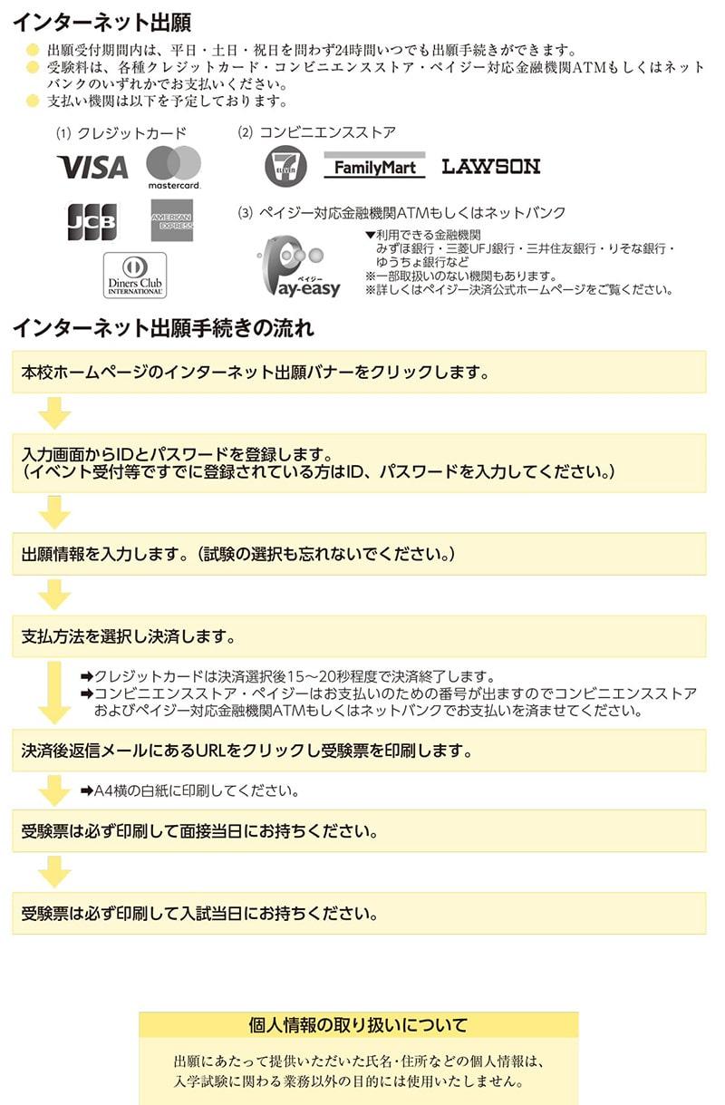 インターネット出願 横浜雙葉学園
